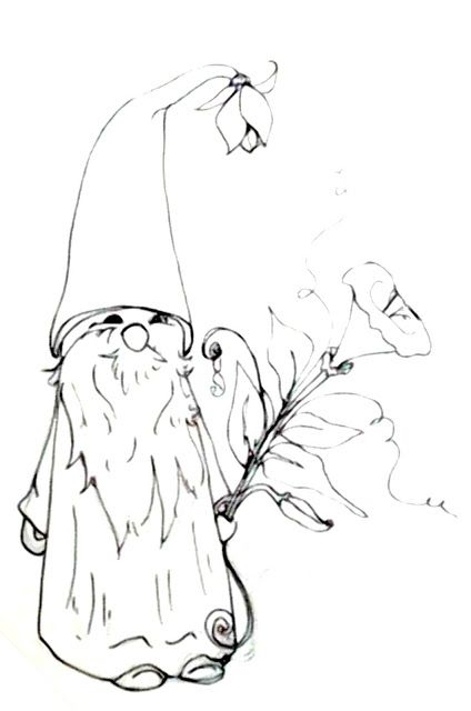 Deliberately Creative: Morning Glory Gnome Doodle Real
