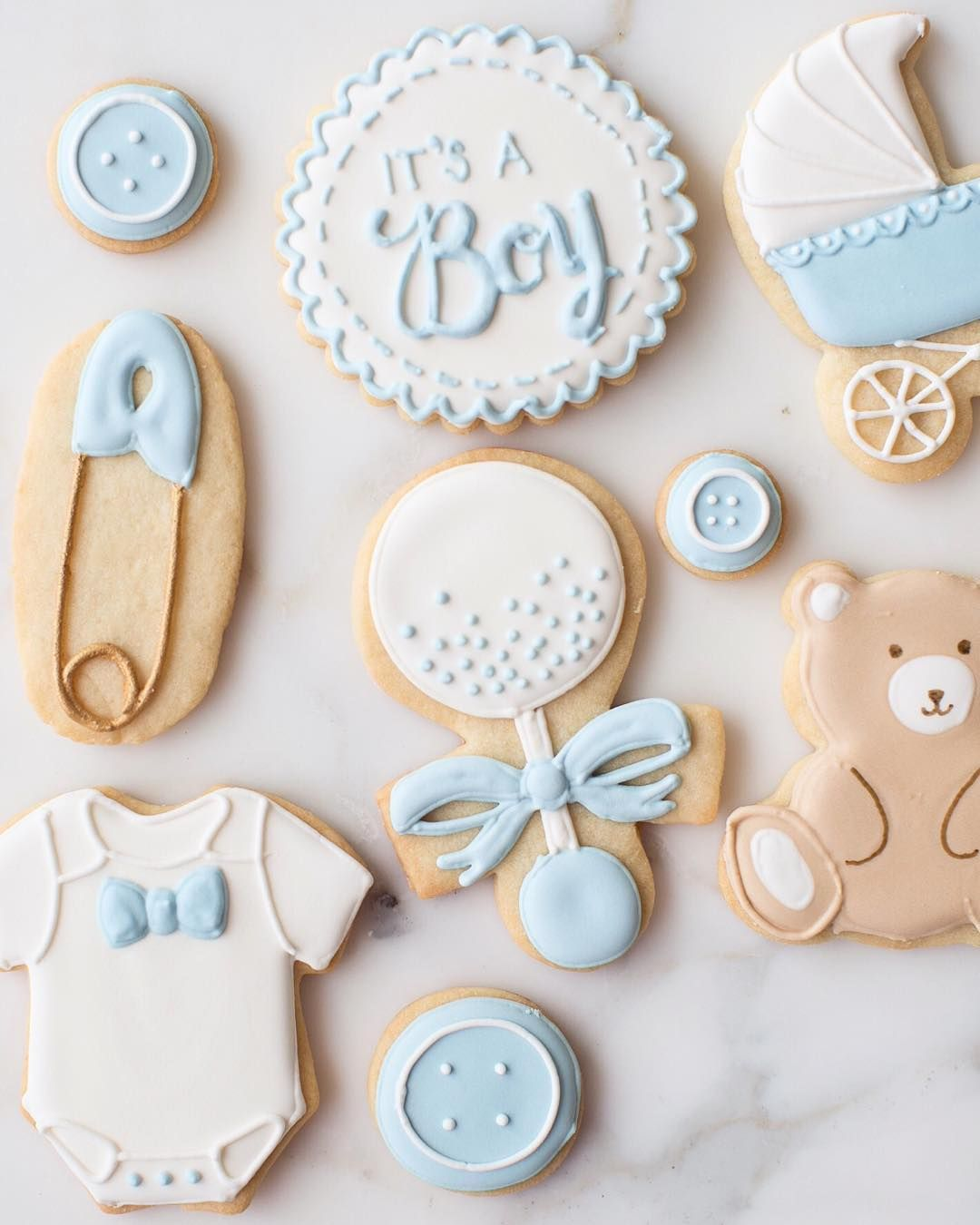 Baby Boy Baby Shower or New Baby Gift Cookies | Shop Sweet Kiera ...