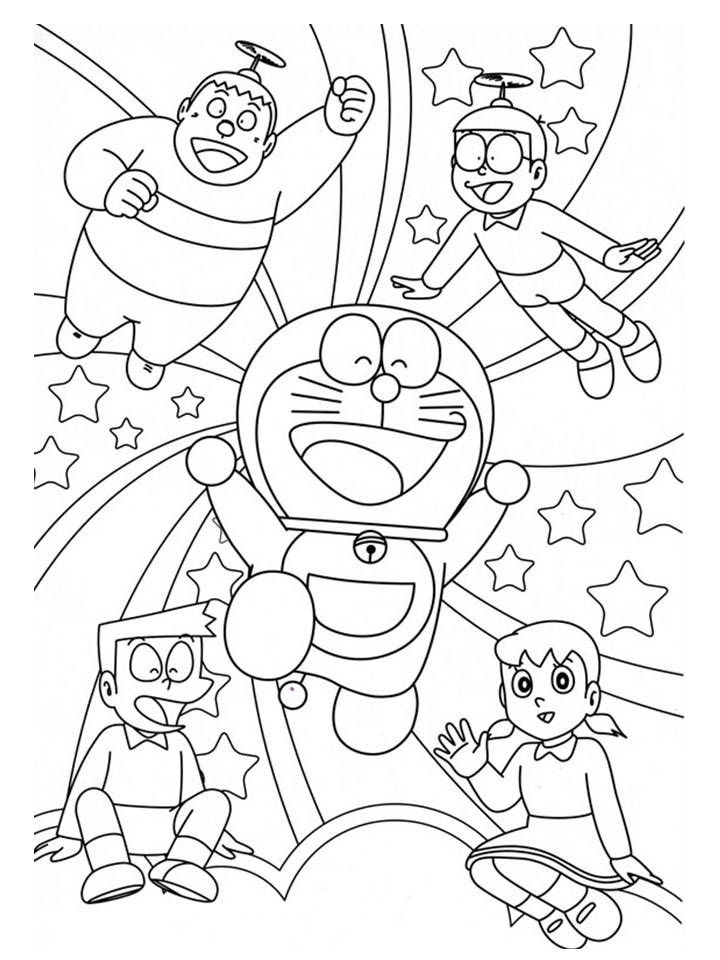 Doraemon Cartoon Coloring Pages Coloring Pages Free Coloring Pages