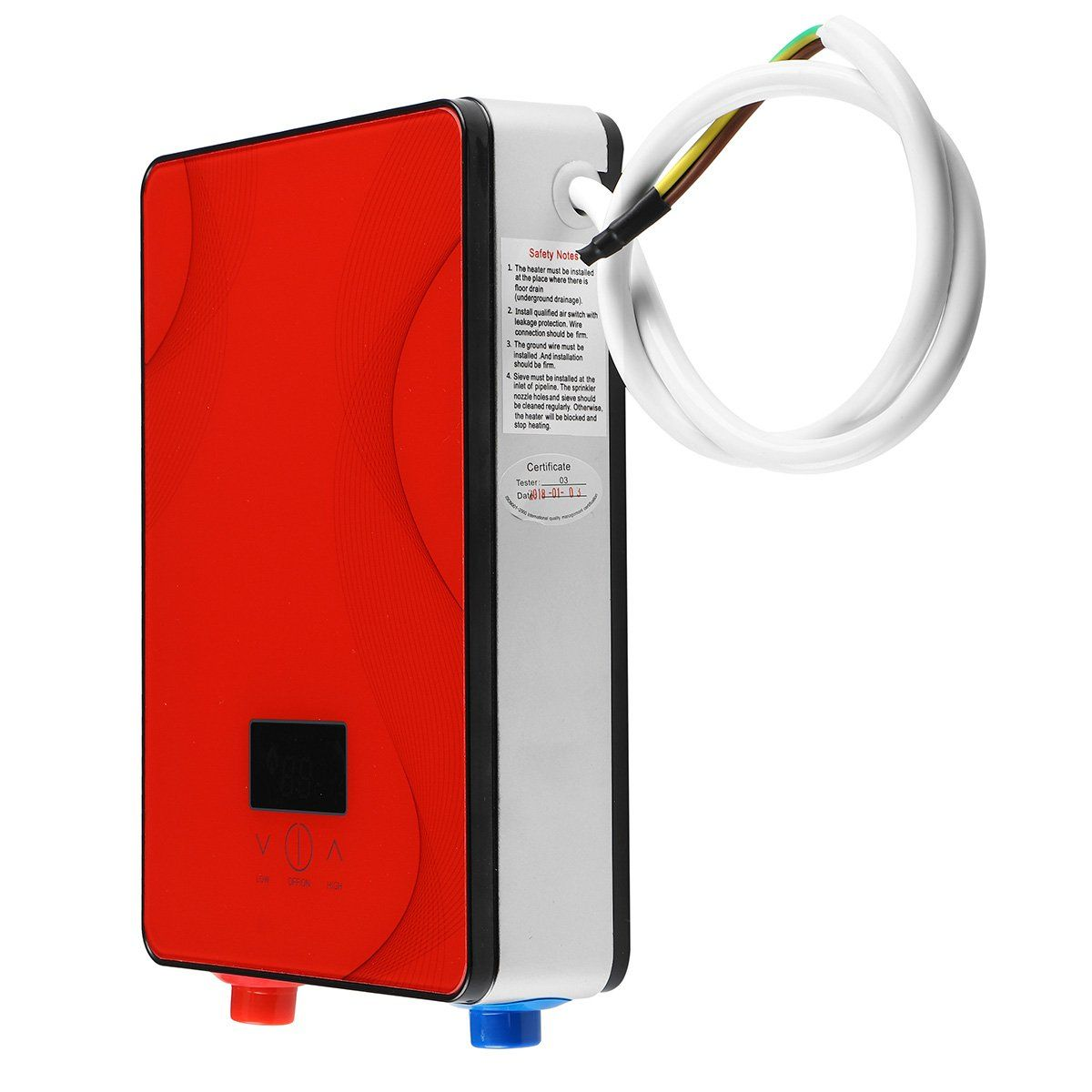 6.5KW 220V Electric Tankless Water Heater Instant Hot