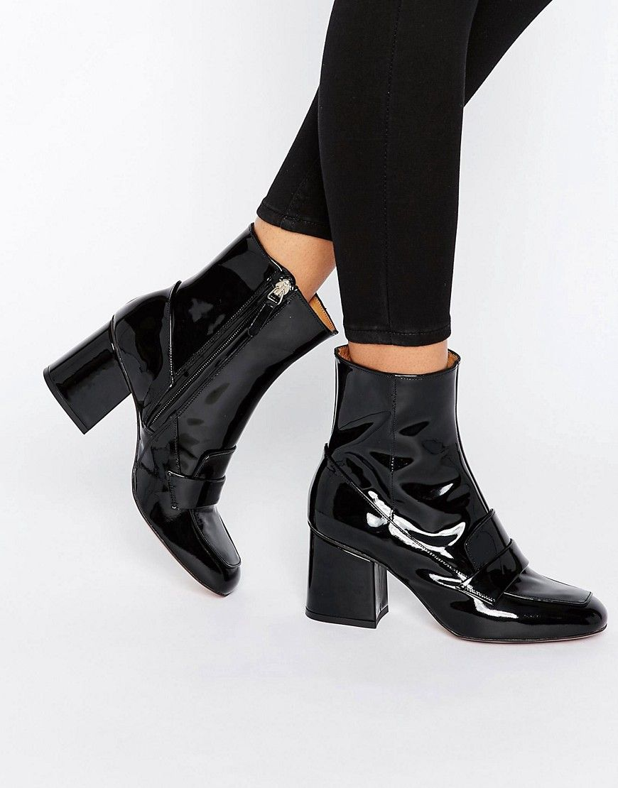 Get this Whistles's cowboy boots now! Click for more details. Worldwide  shipping. Whistles Ambrose 60's Square Toe Boot - Black: Boots by Whistles,  ...