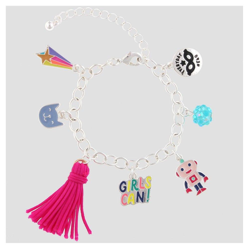 Girls' Charm 'Girls Can!' Bracelet - Cat & Jack, Multi-Colored