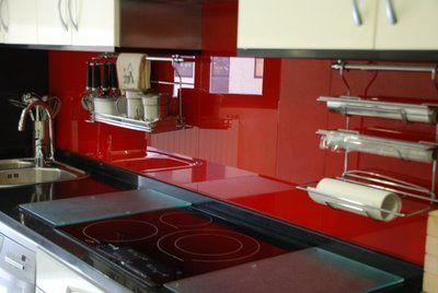 Paredes revestidas con vidrio pintado google search - Losas para cocinas ...