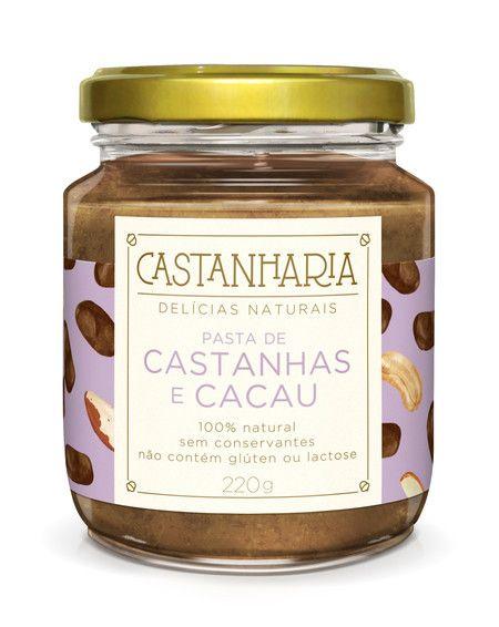 PASTA DE CASTANHAS E CACAU