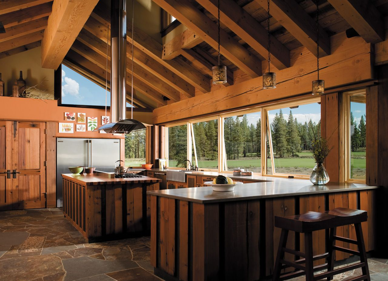 A Rustic Retreat Architect Series Awning Windows Pella