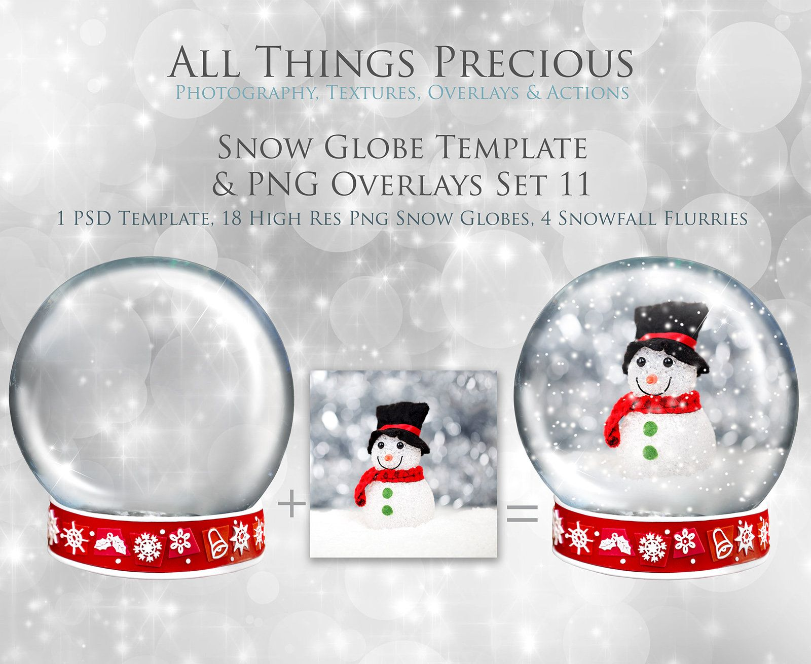 Christmas Snow Globe Png Overlays And Psd Template No 11 Etsy Christmas Snow Globes Snow Globes Photoshop Overlays
