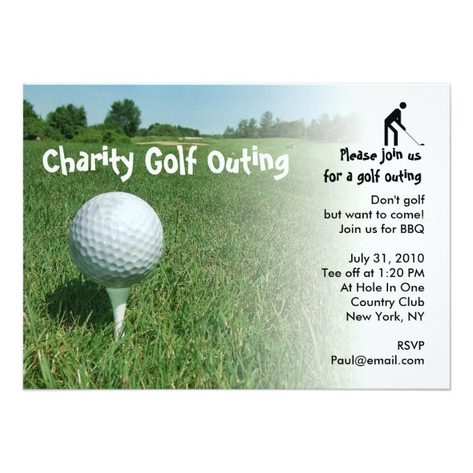 golf outing charity party invitation farewell party invitations