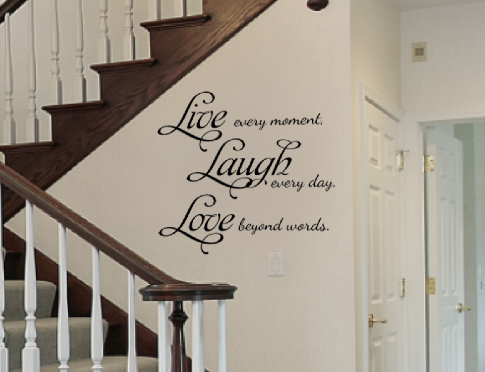 Love Quotes Vinyl Wall Art : Live laugh love removable vinyl wall art quotes decal