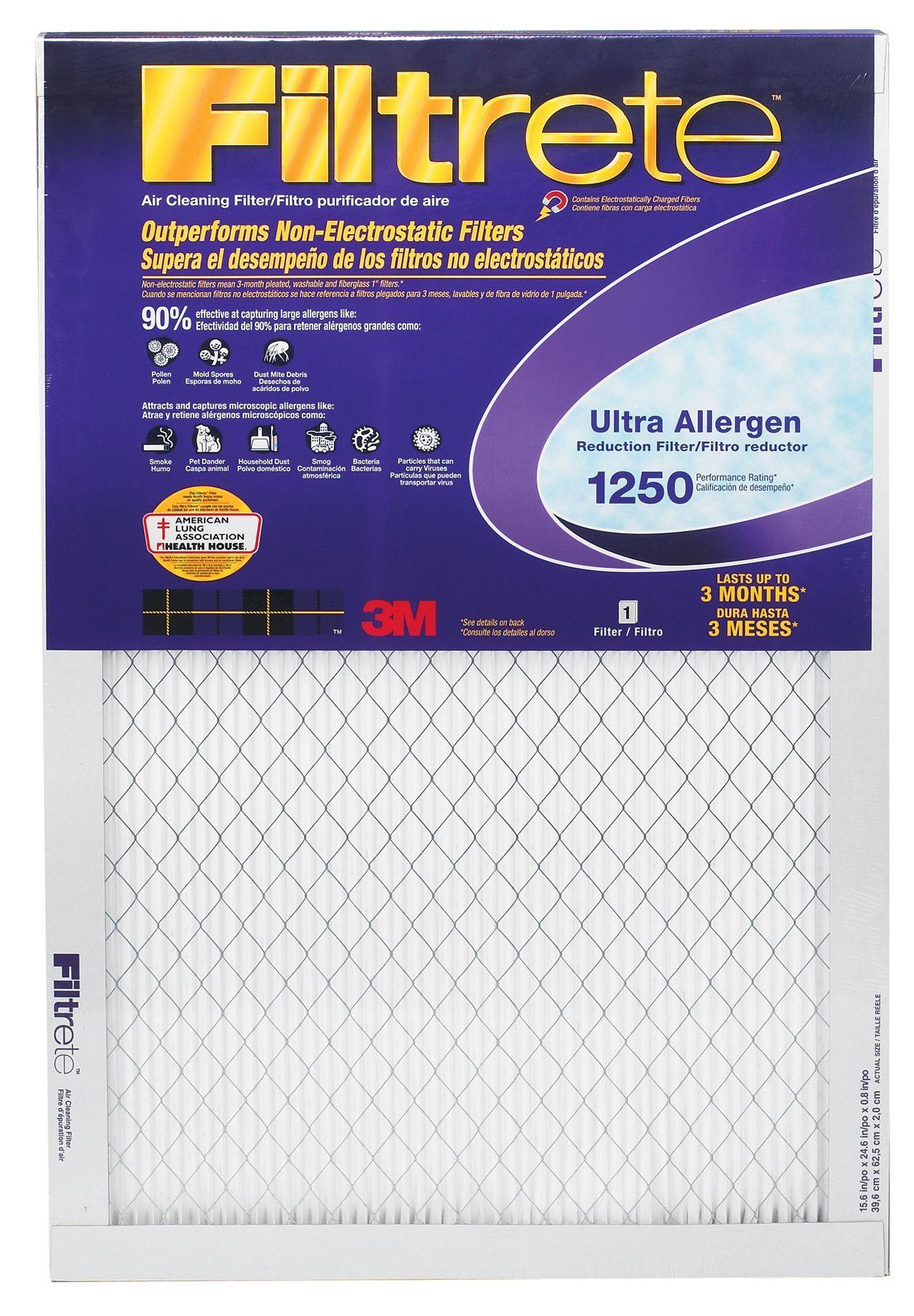Filtrete Ultra Allergen Furnace Air Filter Furnace
