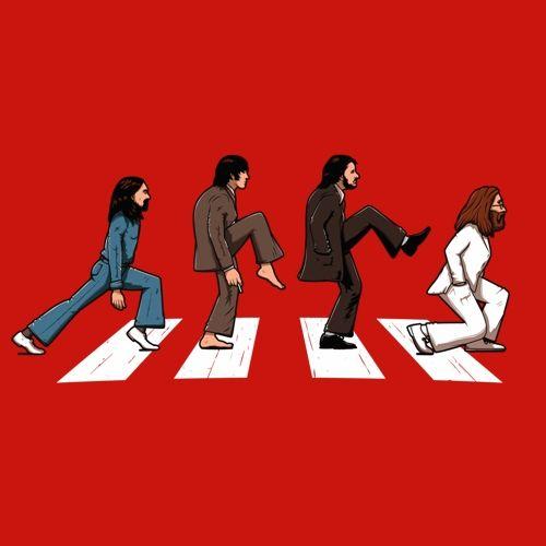 Beatles Tee shirt parodie avec les Monty Python Abbey