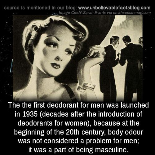 The The First Deodorant For Men Was Launched In 1935