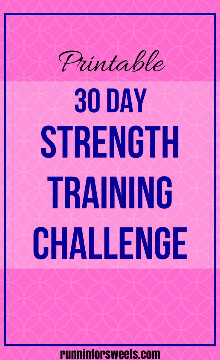 30 day strength training challenge for runners follow the daily exercises in this plan to
