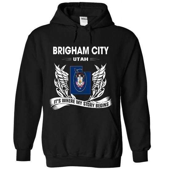 BRIGHAM CITY - Its where my story begins! - #college hoodies #short sleeve shirts. BUY-TODAY  => https://www.sunfrog.com/No-Category/BRIGHAM-CITY--Its-where-my-story-begins-2326-Black-Hoodie.html?id=60505