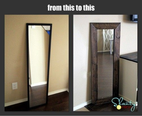 15 diy mirror diy mirror bedrooms and craft for Full length mirror in living room
