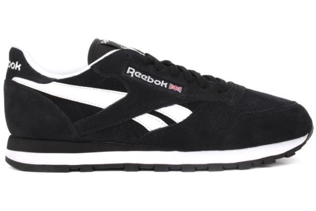 cef97cb3a77 Reebok classic leather suede Black   White