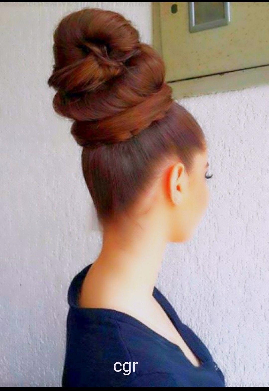 Pin By Ramakrishna U On Long Hair Buns Bun Hairstyles For Long Hair Long Hair Styles Thick Hair Styles