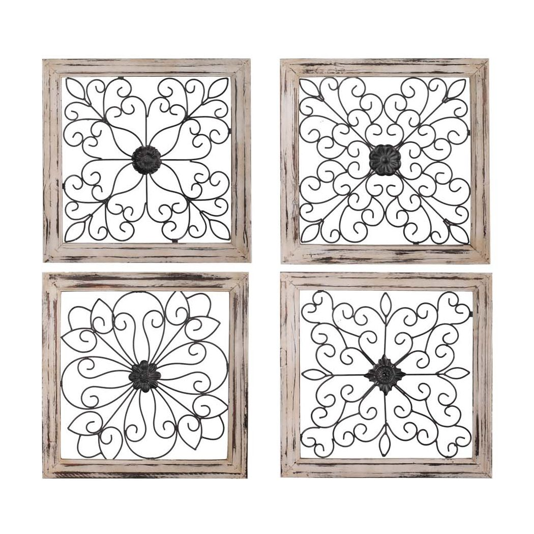 Wire Wall Decor Metal Art On A Wood Range Hood Or Propped Up Against A Kitchen