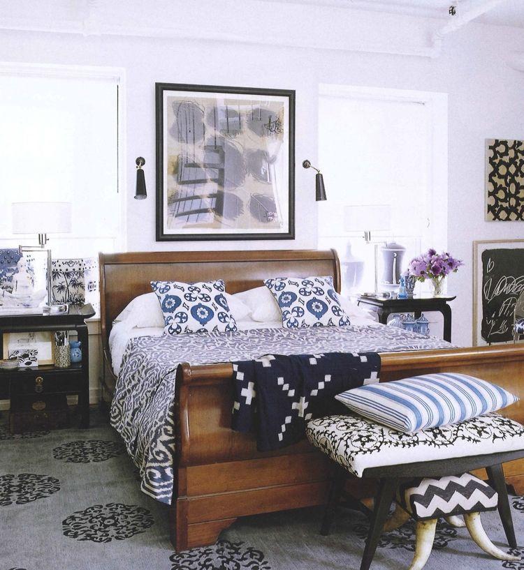 ikat muster ethno schlafzimmer - Ikat Muster Ethno Design