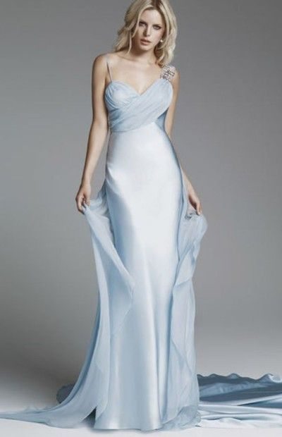 light blue beach wedding dress | Dresses | Pinterest | Blue beach ...