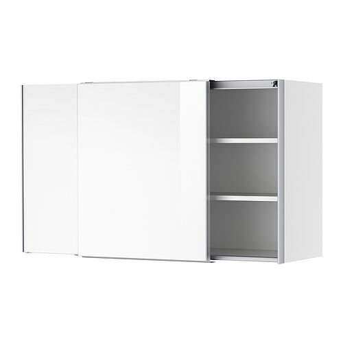 Faktum Wall Cabinet With Sliding Doors Ikea Sliding Doors Dont Take