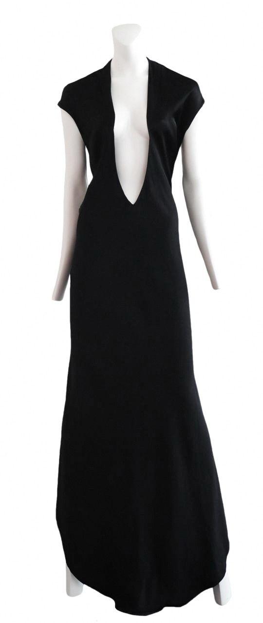 Vintage Halston Deep V Jersey Gown @ Resurrection Vintage | Halston ...