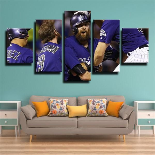 Shopping perfect MLB colorado rockies players large canvas wall art from glcanvasprints.com now!Colorfully improve your wall today with canvas picture decor you love that won't break the bank, hang your framed art prints in anywhere blank walls aren't welcome.This modern framed art for colorado rockies fans,you can find more players home art decoration from our site.#wallart #artdeco #glcanvasprints #iandesmond #coloradorockies