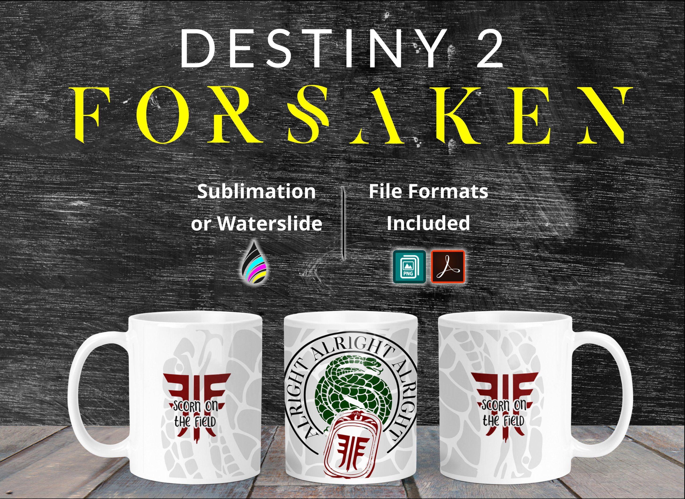 Destiny 2 Forsaken Gambit Scorn Mug Design Template For Dye