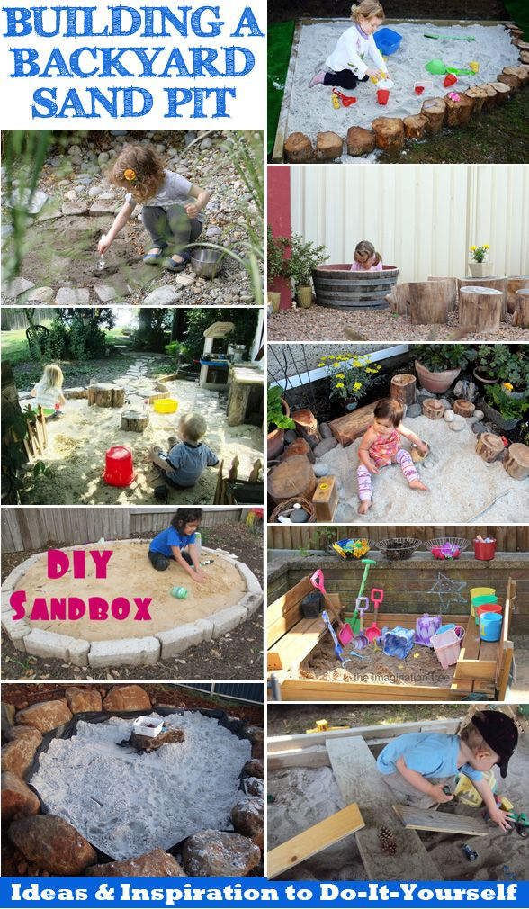 DIY Sand Box and Gravel Pit DIY outdoor sensory play areas