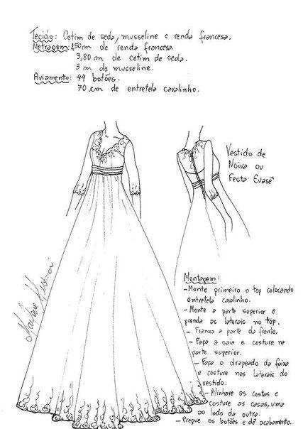 como hacer un vestido de novia con patrones | sewing | pinterest