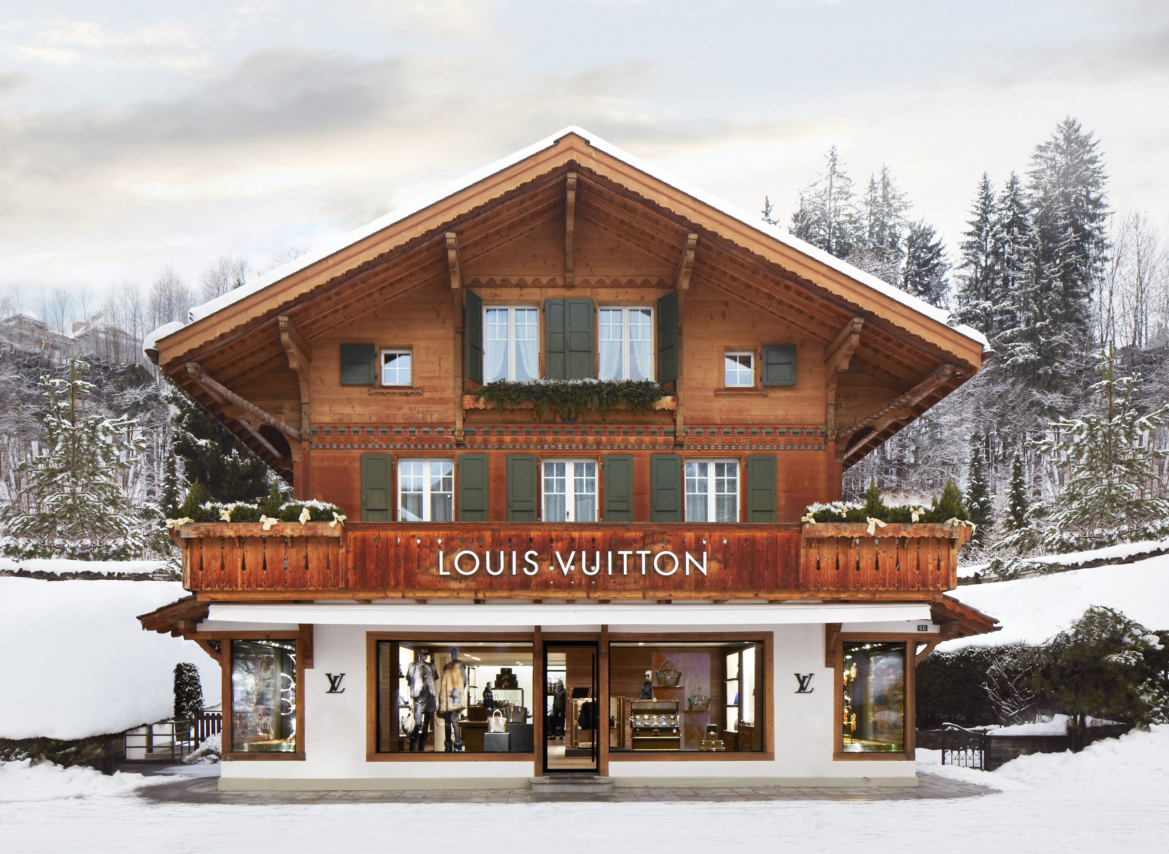 Louis Vuitton Winter Resort Store On The Renowned Promenade, Gstaad,