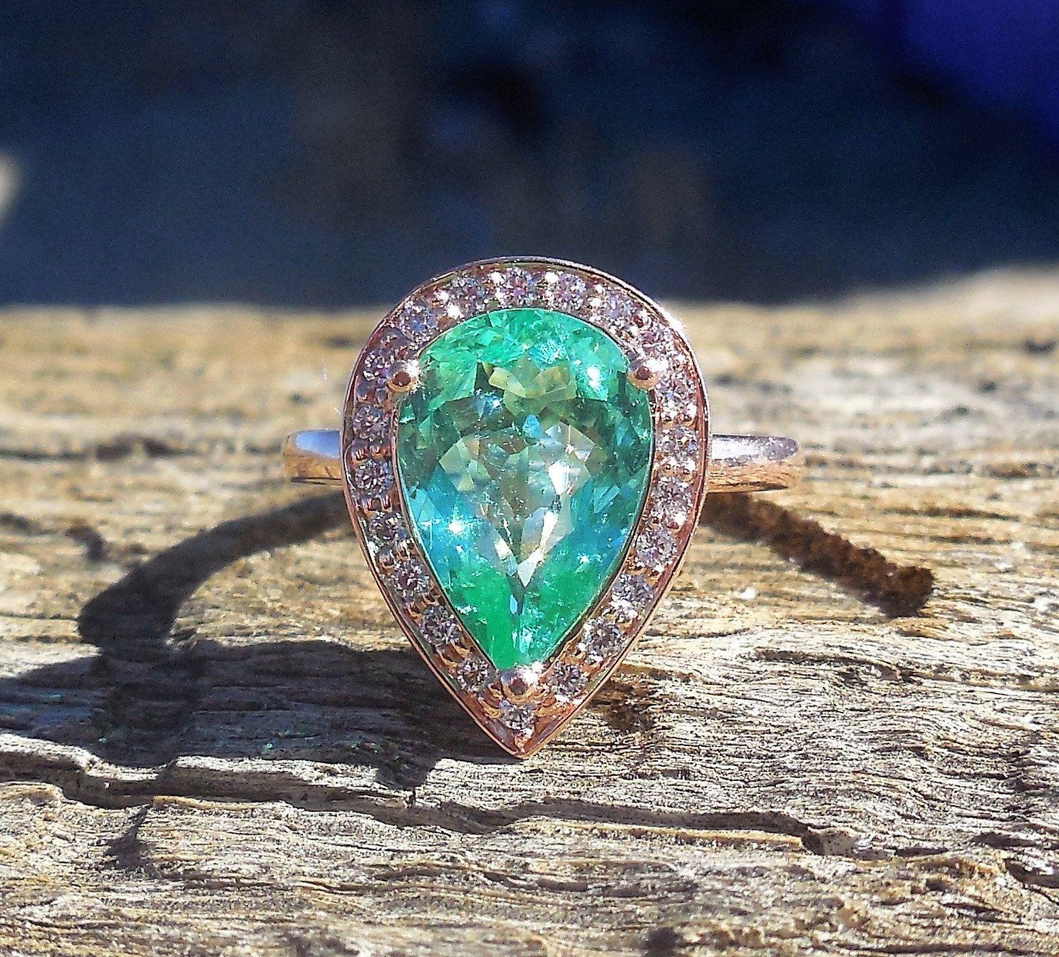 Ring · 252ct Paraiba Tourmaline Diamond