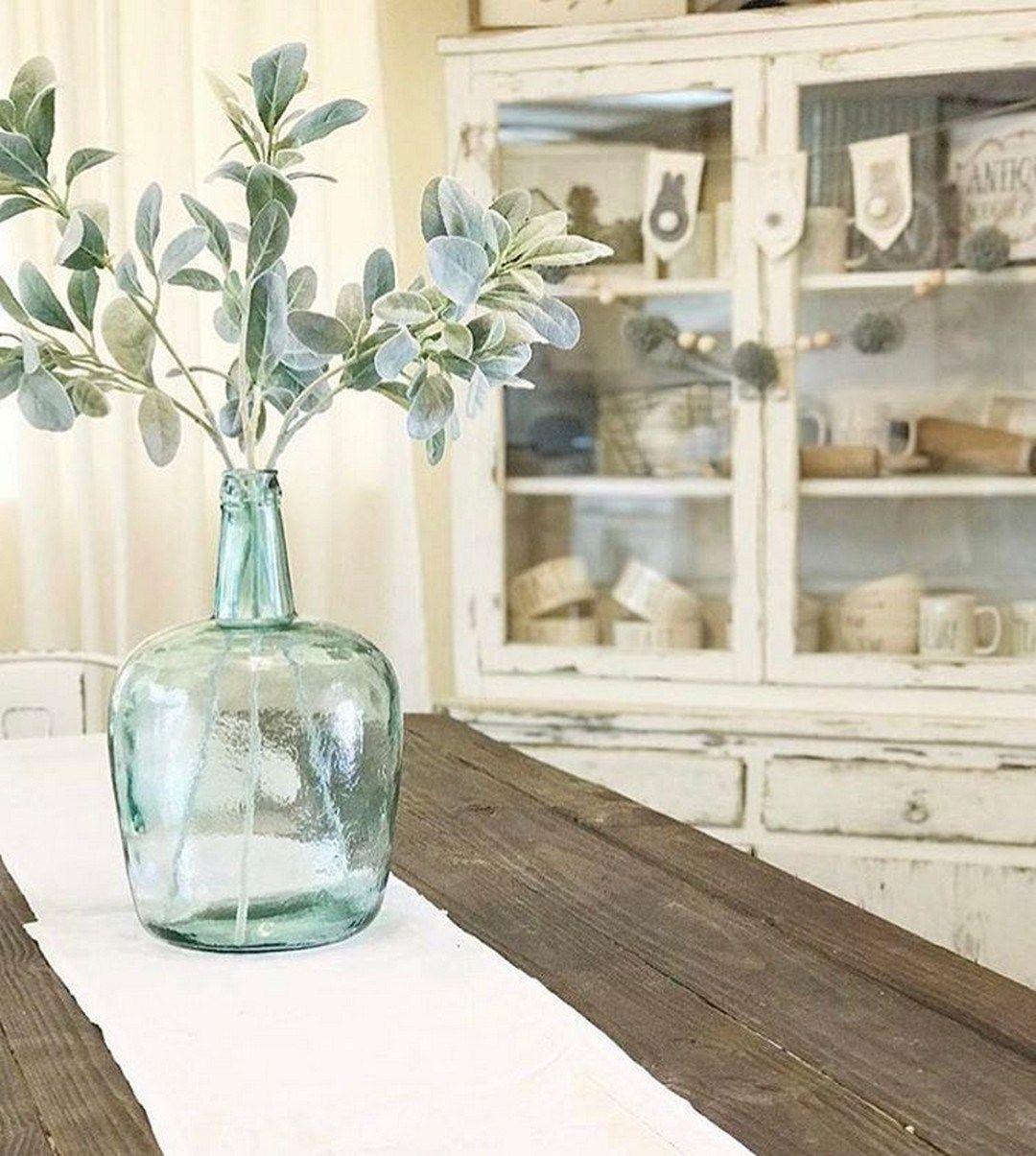 78 Lambs Ear Arrangement In 2020 Hobby Lobby Decor Rustic Kitchen Decor Farmhouse Vases