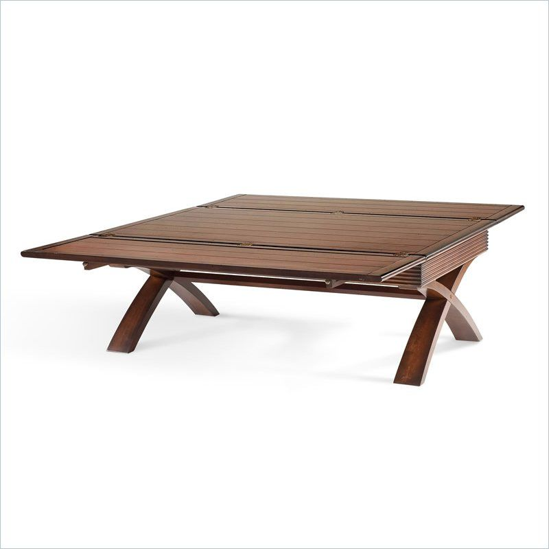 Magnussen Bali Tables Rectangular Wood Flip Top Cocktail Table In
