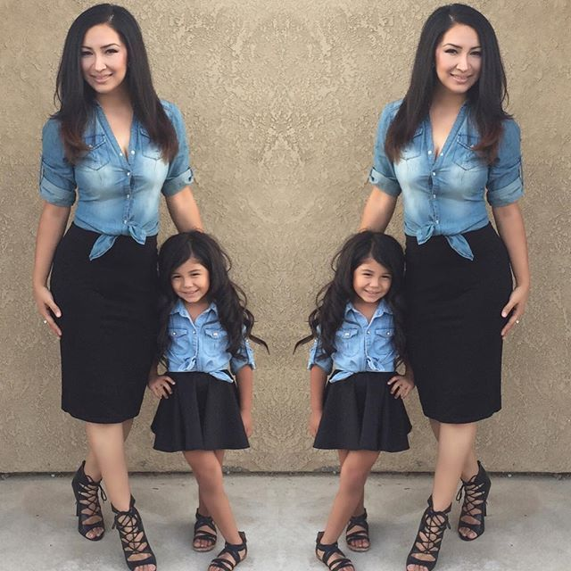 25 Mommy And Me Fall Outfit Ideas Jean Jacket Black Skirt Cute Way To Match Your Little One With Easy Find Items