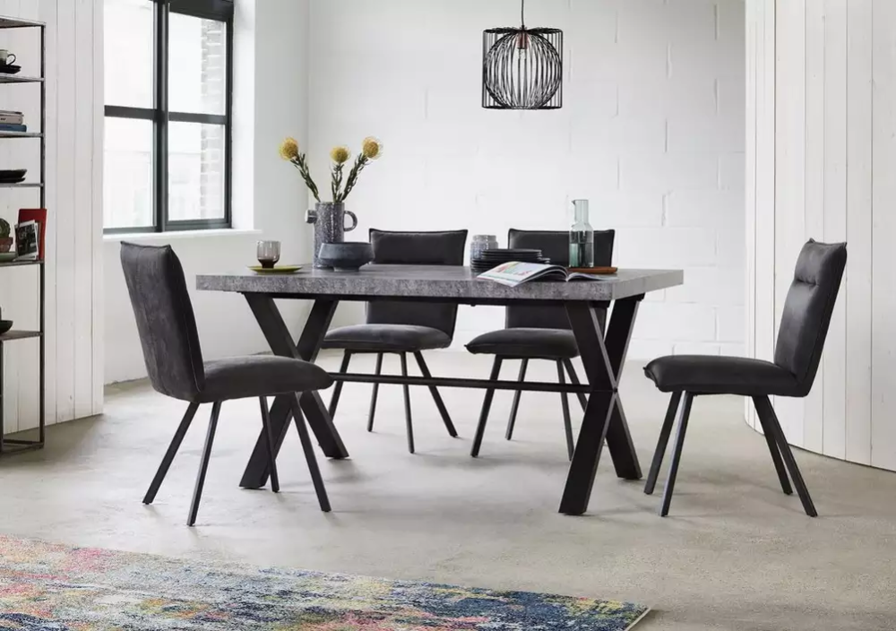 Moon Large Dining Table And 4 Chairs In