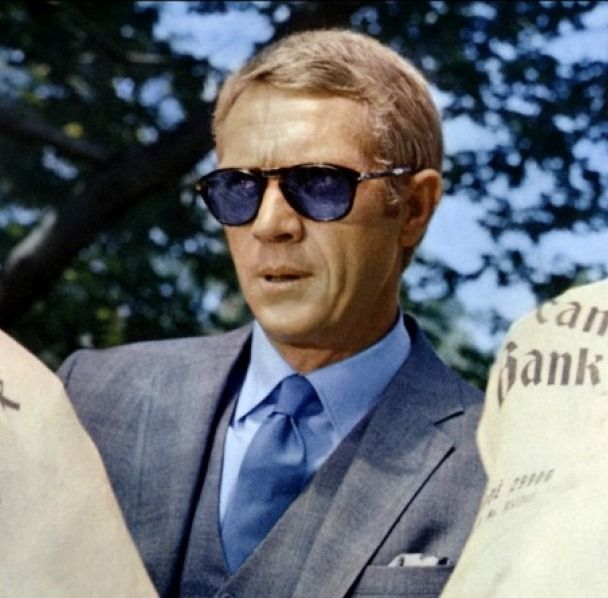 steve mcqueen l 39 affaire thomas crown persol guys. Black Bedroom Furniture Sets. Home Design Ideas