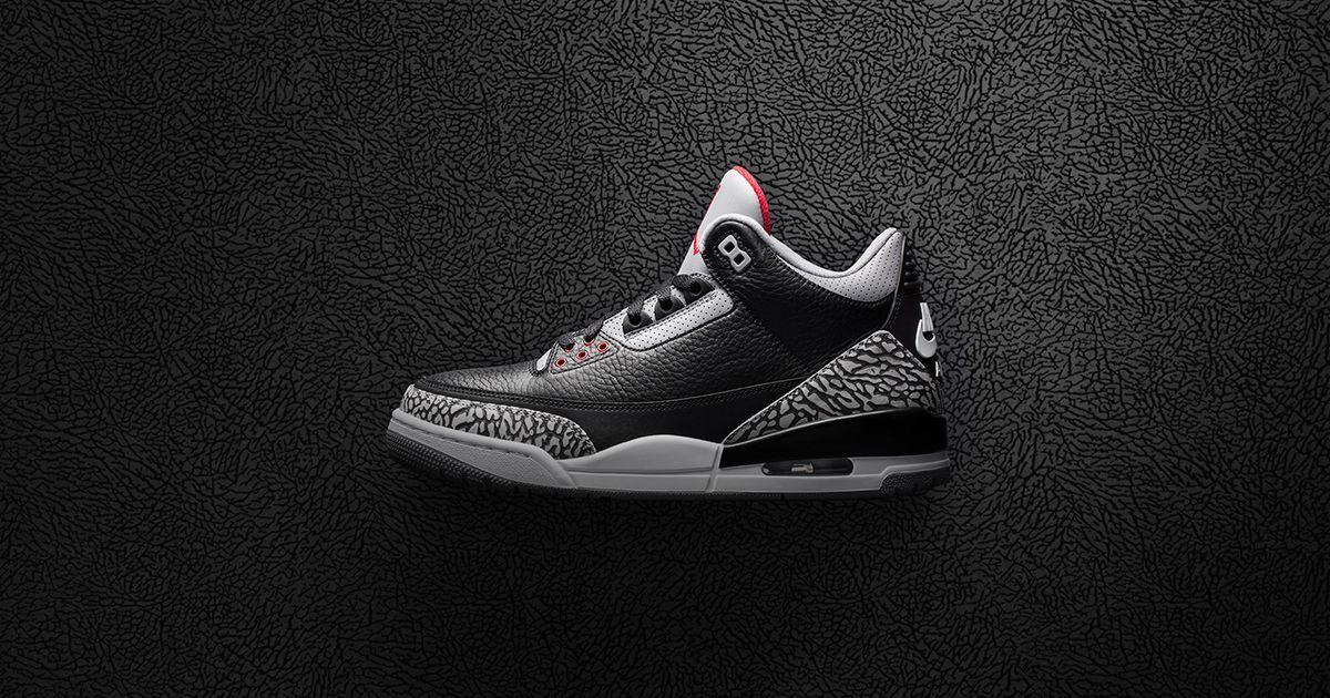 online store 14250 526b5 Der Air Jordan 3 Black Cement wird schon am Mittwoch in einer sehr