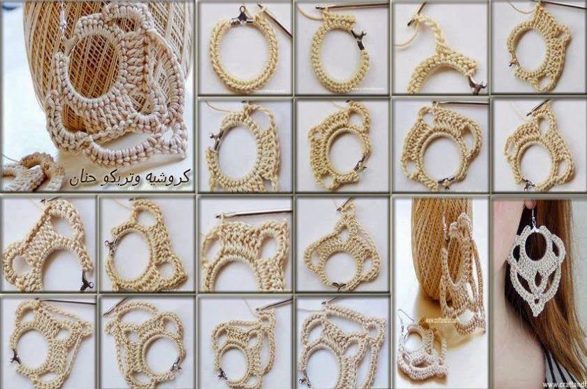 Relasé: Crochet: orecchini pendenti all'uncinetto - tutorial fotografico e spiegazioni