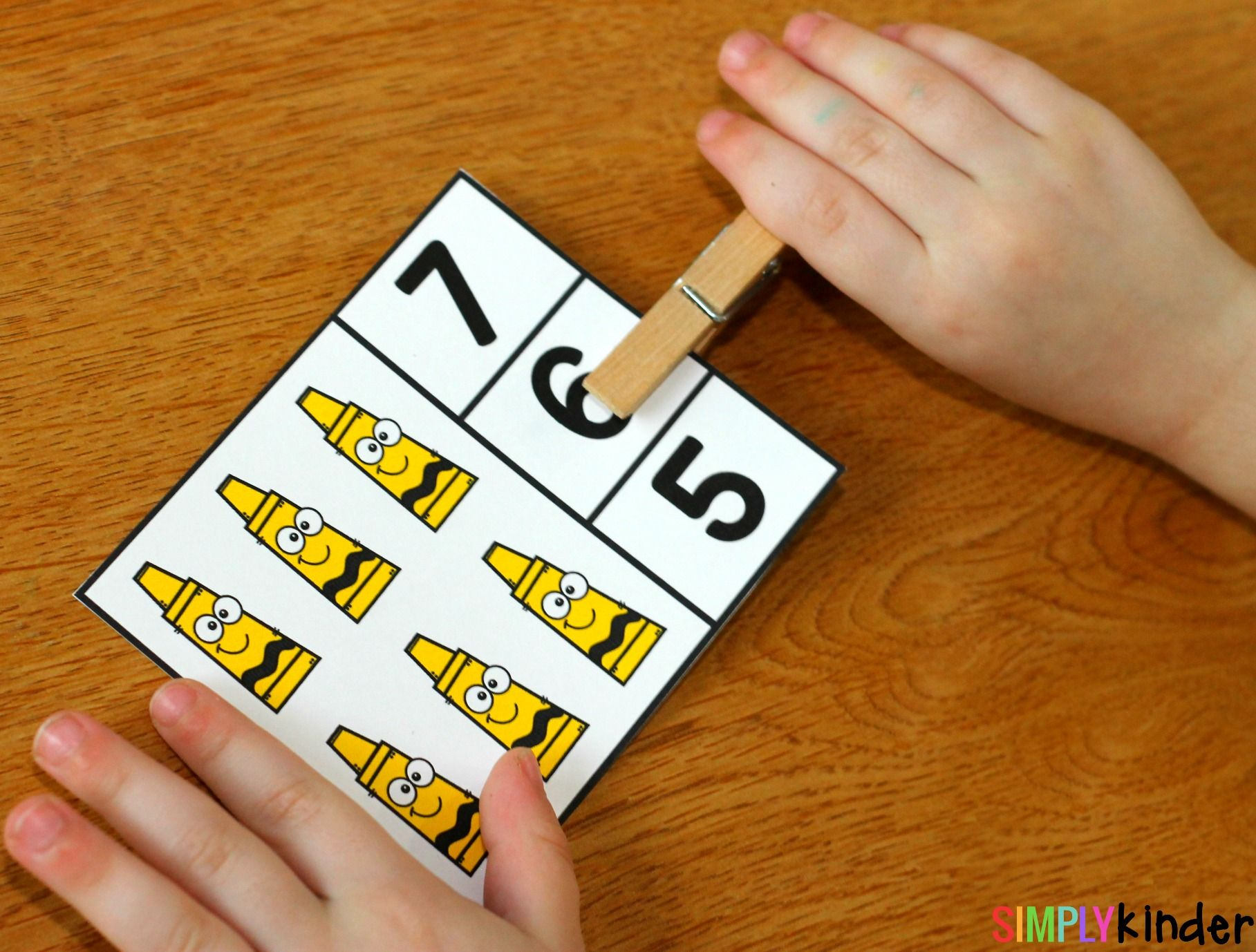 Activities Back To School Counting Clip Cards School