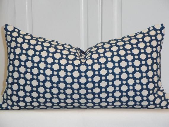 Schumacher Betwixt In Indigo 11 X 21 Decorative Pillow Cover Geometric Lattice Celerie Kem In 2019 Bookelia Makeover Ideas Decorative Pillow Cove