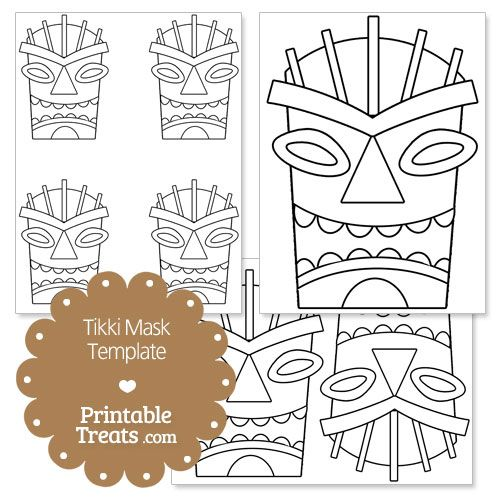 image relating to Tiki Mask Printable identify Printable Tiki Mask Template towards