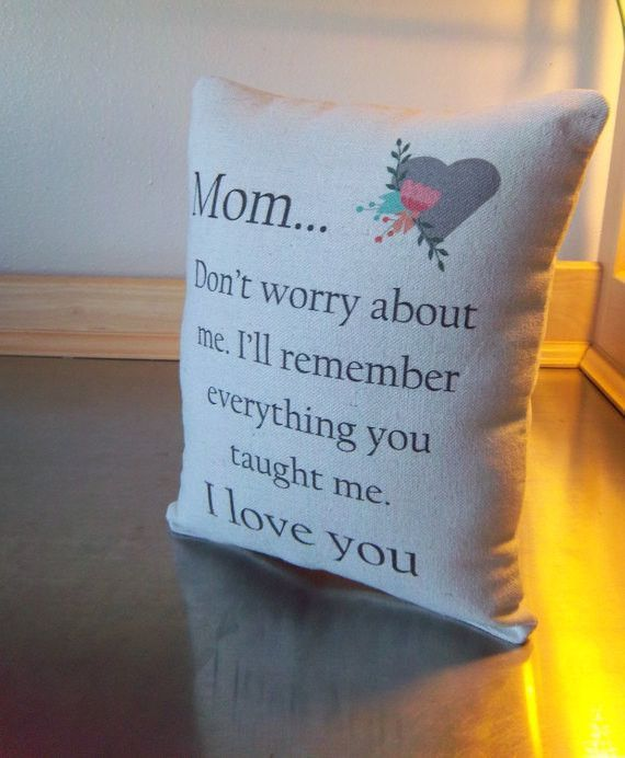 Mom Birthday Pillow Gift From Son Throw Daughter Long Distance Ideas Mothers Day Gifts Preschool