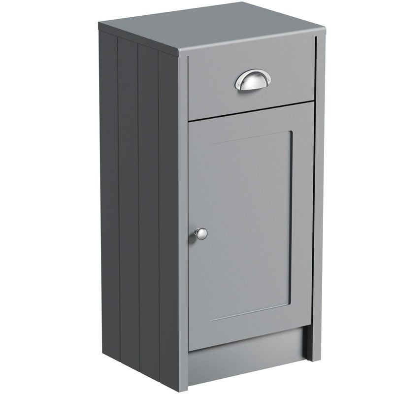 The Bath Co Dulwich Stone Grey Storage Unit 800 X 400mm Products In 2019 Storage Small Bathroom Furniture Fitted Bathroom