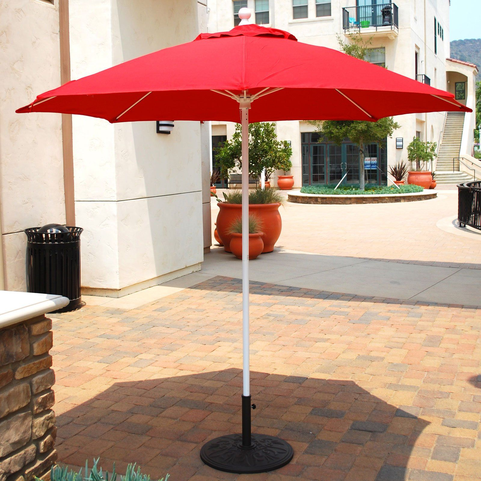Cool Patio Umbrellas Ideas Patio Umbrellas Red Aluminium