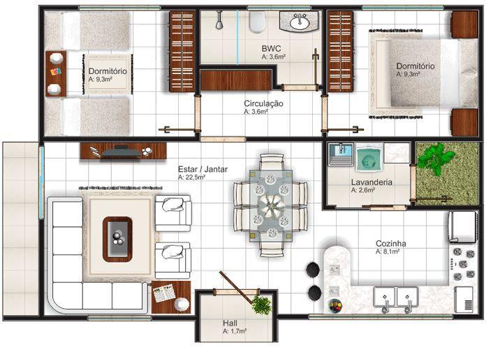 Casas de 7 metros de ancho por 8 metros de largo planos for Coste de amueblar un piso