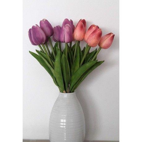 Atado Floral De Tulipanes Artificiales Flores Para Decorar