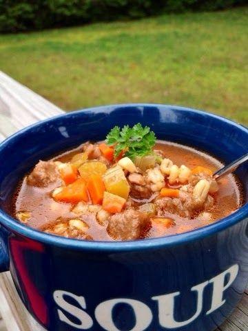 The Comforting Vegan : Vegan Beef & Barley Soup