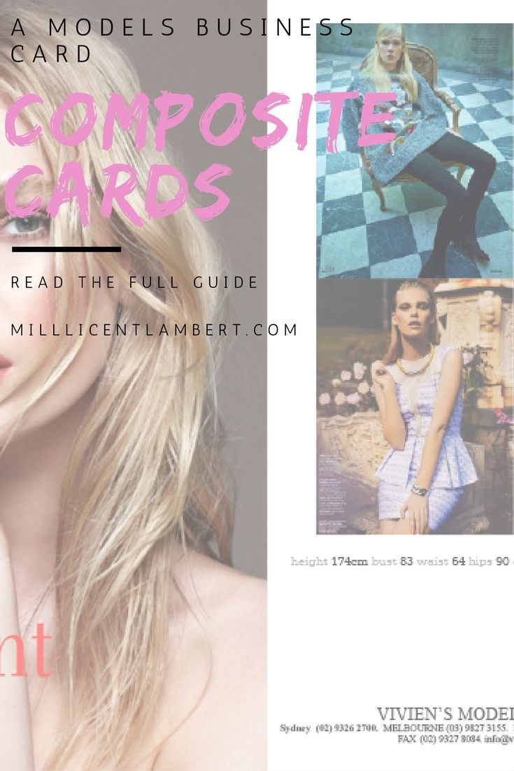 Comp Cards - The Models Business Card — Millicent Lambert ...