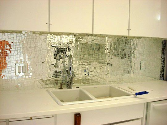 Look Glass Mirror Mosaic Tile Backsplash Mirror Backsplash