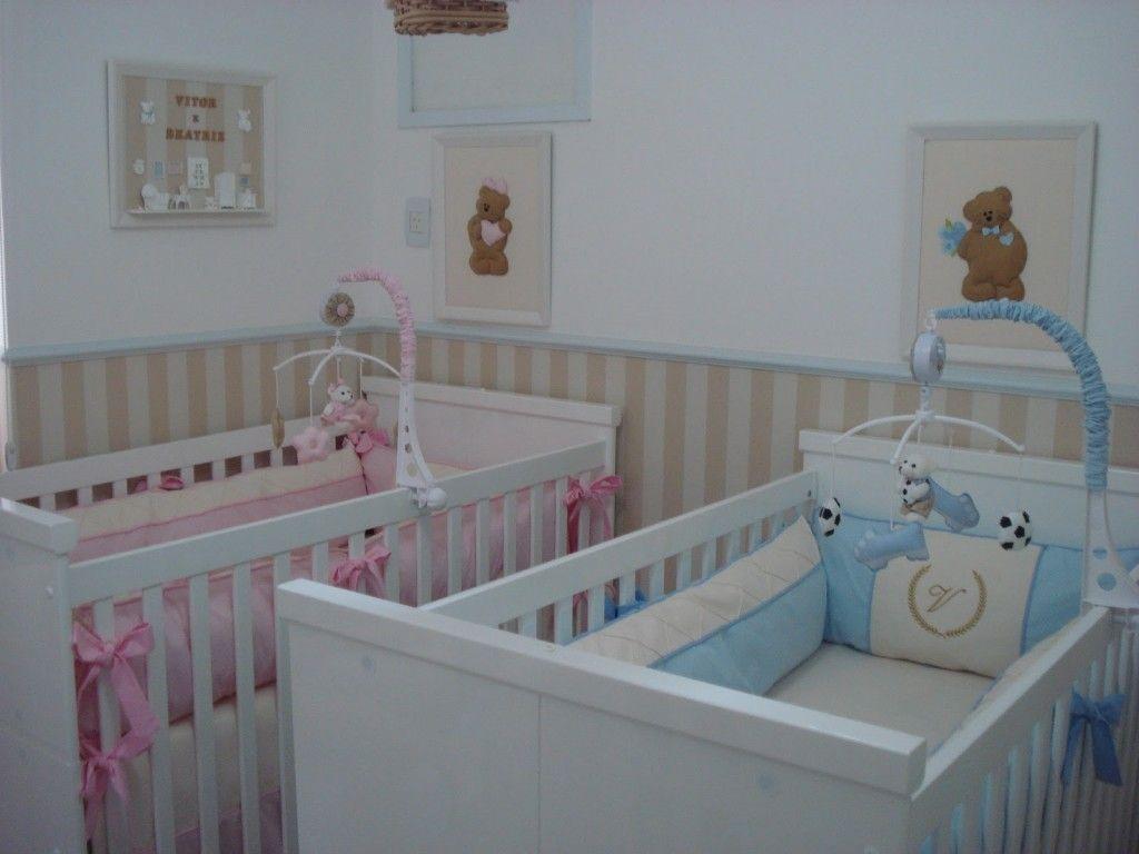 Decoracao Quarto Gemeos Chambres De Baby Pinterest Decora O  ~ Imagens Para Decorar O Quarto E Quarto De Casal De Gemeos